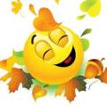 Fall smiley face
