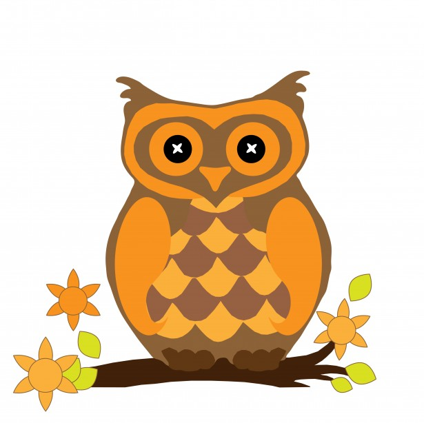Owl-clipart in fall