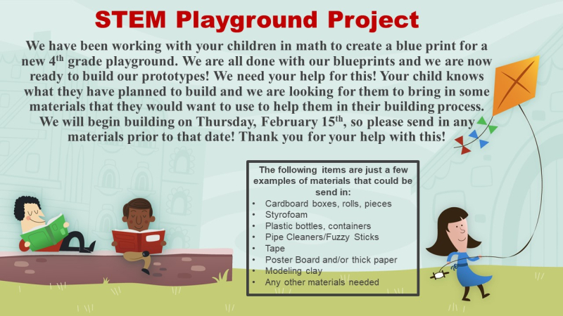 STEM Playground Project Slide for Parents